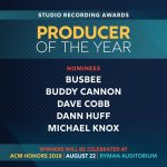 Michael Knox Nominated for Producer of the Year at the 53rd Academy of Country Music Awards