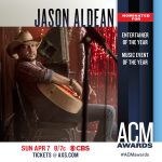JASON ALDEAN NOMINATED FOR ENTERTAINER OF THE YEAR AND MUSIC EVENT OF THE YEAR AT 54TH ACM AWARDS